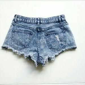 Forever 21 Shorts - Forever 21 Acid Wash High Waist Jean Shorts